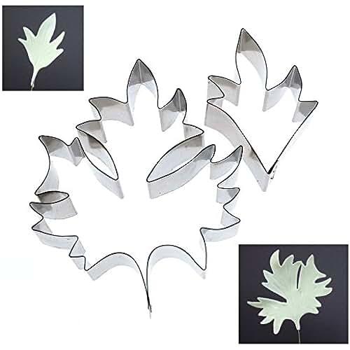 figuras kawaii porcelana fria Alyson Reynolds–hojas Clematis 2juego de moldes para repostería/porcelana fría decoración Floral
