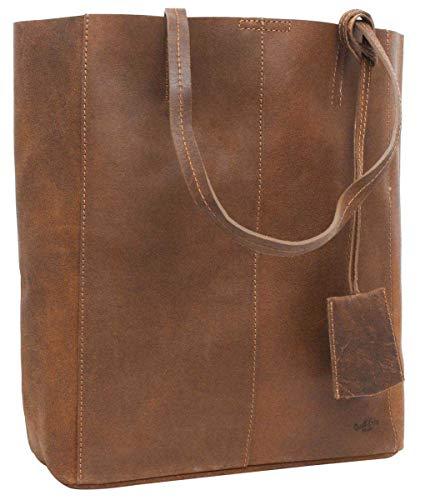 Gusti Handtasche Leder Damen Herren groß - Cassidy Shopper Ledertasche 13L Tasche Braun -