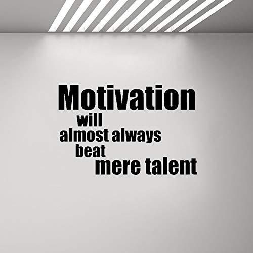 Preisvergleich Produktbild 68CM*44.3CM Fitness Motivation Will Almost alwats Beat Mere Talent Decal PVC Wall Sticker