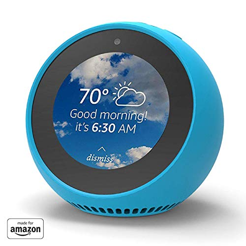 Mission - Custodia in Silicone per Amazon Echo Spot, Blu (Bahama Blue)