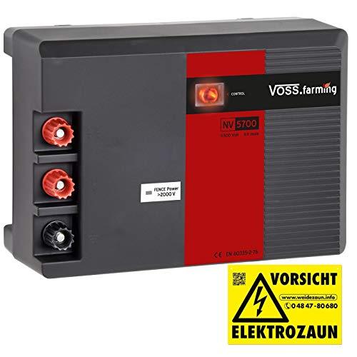 """VOSS.farming Kraftvolles 230 Volt Duo Weidezaungerät NV 5700\"""" 4,9 Joule, 11500 Volt Elektrozaungerät zum Tiefpreis"""