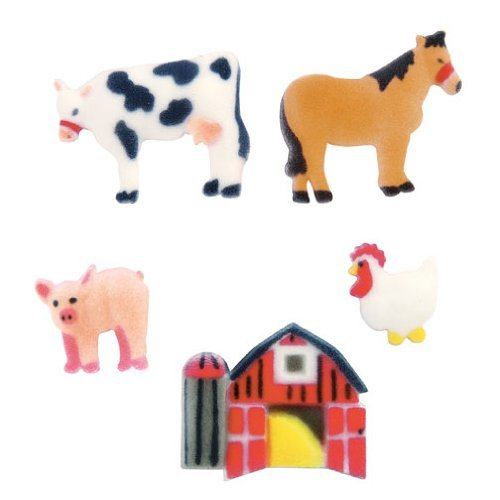 96 pkg ~ Lucks Farm Animals Edible Dec-ons ~ Designer Cake/Cupcake Topper ~ New!!! by Quantumchaos
