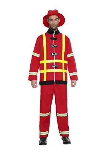 Imagen de disfraz bombero talla s tamaño adulto