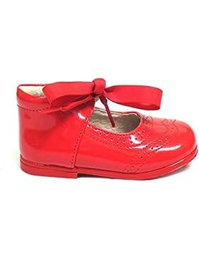 Mercedita de charol para niña fabricada en piel Bubble Bobble A1639 color rojo, cierre con hebilla