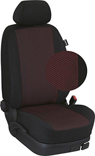 Preisvergleich Produktbild Ukatex Maßgefertigte Sitzbezüge / Rücksitzbezug für die 2. Reihe (Sitzlehne 40 : 20 : 40 geteilt, Sitzfläche 1/3 : 2/3 geteilt) im Design: 107. Stoff Nizza-rot / Stoff schwarz