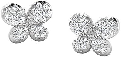 His & Her 9ct Oro Rosa En forma de mariposa Los Aretes de Diamante, 0.22 Ct Diamante, IJ - PK, 44 piedras