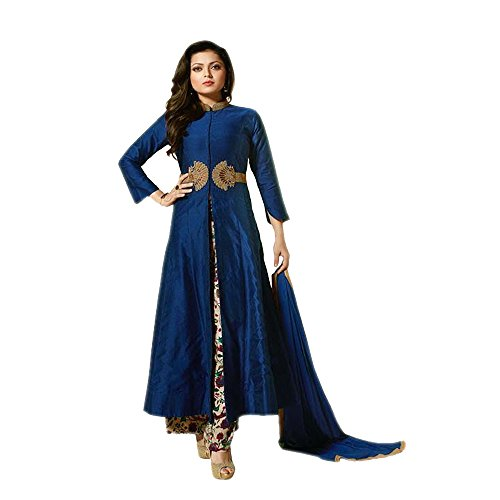 Ethnic Empire Blue Suit With Orinted Plazo COLOR LATEST INDIAN DESIGNER ANARKALI SALWAR KAMEEZ DRESS for women & girls party wear stitched For Girls For Specail Uses In wedding, engagement , Party Wea