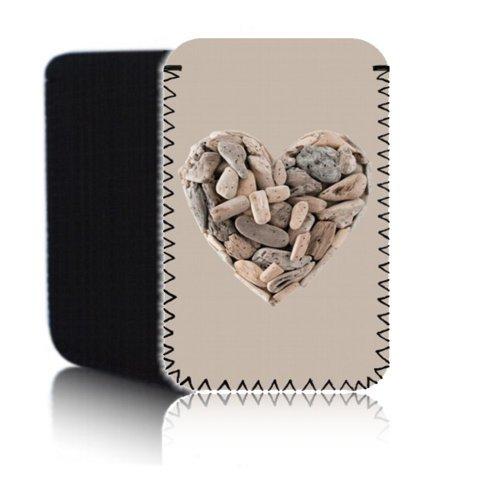 BIZ-E-Bee Exklusive 'WOODEN Herz 7HD'Neopren Tasche für AMAZON KINDLE FIRE HDX 2013 Tablet (17.78 cm 17.78 cm, stoßfest, wasserdicht, rutschfest, EU