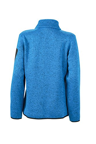 James & Nicholson Damen Jacke Jacke Knitted Fleece Jacket Royal-Melange/Red