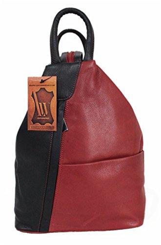 Leatherworld Tasche Rucksack Schultertsche Backpack Leder 02193 (Leder-rucksäcke Handgefertigtes)