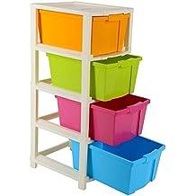 Joyful Studio 4 XLPlastic Modular Drawer System, Multi Colour(31cmx39cmx80.9 cm)