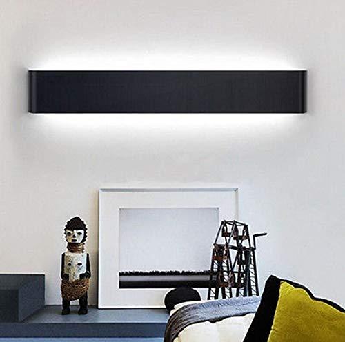 K-Bright Moderno Lampade da Parete per Interni / Esterno Led,20 pollici,16W Angolo a Fascio 120 Gradi,AC 85-265V,luce a specchio/Luce di trucco Impermeabile IP44,6000K Bianco Freddo,Nero