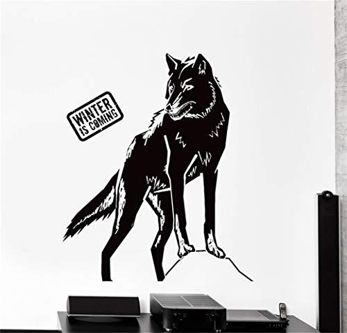 Citar calcomanía de la etiqueta engomada de la guardería de vinilo diciendo letras arte de la pared inspirador decoración de la pared Juego de tronos lobo El invierno se acerca
