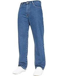 Herren Gerade Leg Einfach schwer Works Jeans Denim Hose alle Hüfte groß  Größen erhältlich ... c6676206cc