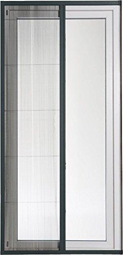 POWERFIX® Alu-Insektenschutztür Plissee, 110 x 220 cm, anthrazit