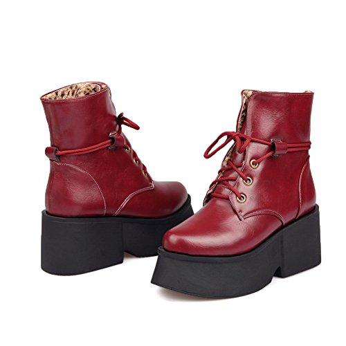 1to9 - Sandales Compensées Rouges Pour Femmes