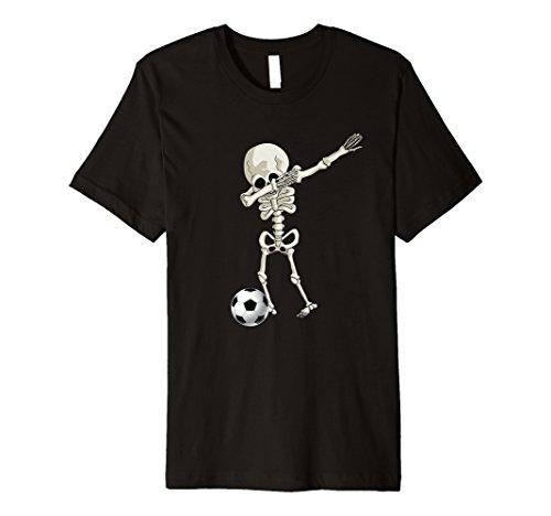 (Halloween Skelett Fußball Sanftes T-Shirt Skelett Dance Tee)