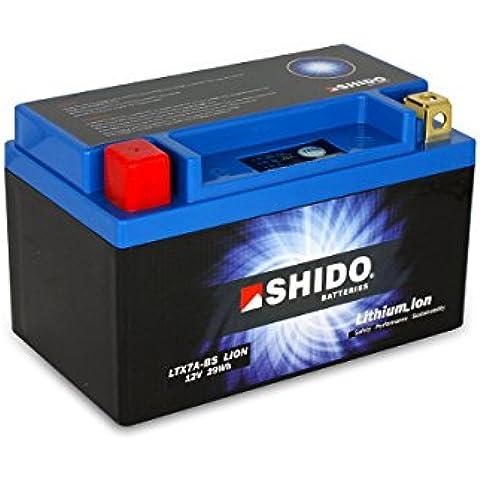 SHIDO LTX7A-BS LION -S- Batería de ion de litio, color azul