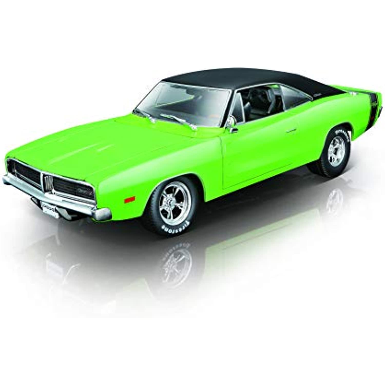 Maisto Dodge Charger R/T '69 '69 '69 : modèle Original 1:18, avec système d'échappeHommes t, Portes Mobiles, Coffre et Moteur Qui s'ouvre, 28 cm, Vert (532612) c469bd