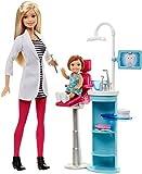 Barbie Mattel DHB64 - Modepuppen, Ich wäre gern, Zahnärztin Spielset