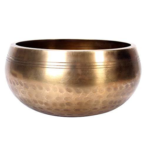 Original Tibetische Klangschale 12cm. Klangschalen Set mit Klöppel und Klangschalenkissen in Loktapapier Geschenk-Box. Singing Bowl aus Tibet - 7