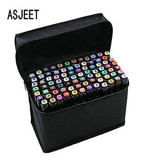 40/60/80 Colors Art Marker Set,Twin Tip Sketch Marker Pens Set with Pencil Bag for Artist Artwork (60-Color)