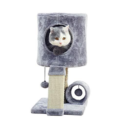OHANA Alberi tiragraffi per Gatti con Pali di sisal Grigio 31 * 31 * 51cm
