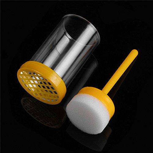 Wchaoen Imker-Biene-Königin-Markierungskäfig-Markierungs-Flasche mit Kolben Bienenzucht-Werkzeugsatz Werkzeugzubehör