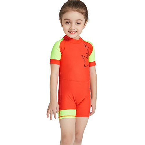 3feb6091fa Gogokids Boys Girls One Piece Swimsuit - Kids Short Sleeves Swimwear UPF 50+  UV Sun Protection Wetsuits Diving Suits S - Buy Online in Oman. | Misc.