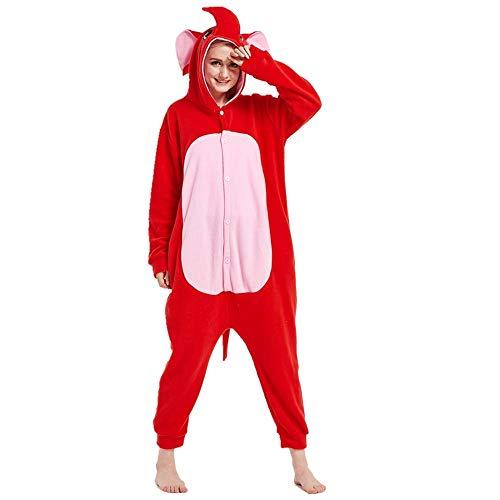 DUKUNKUN Adultos Elefante Rojo Animal Pijamas Disfraces Fiesta De Carnaval De Halloween Fiesta De Dibujos Animados De Navidad,XL