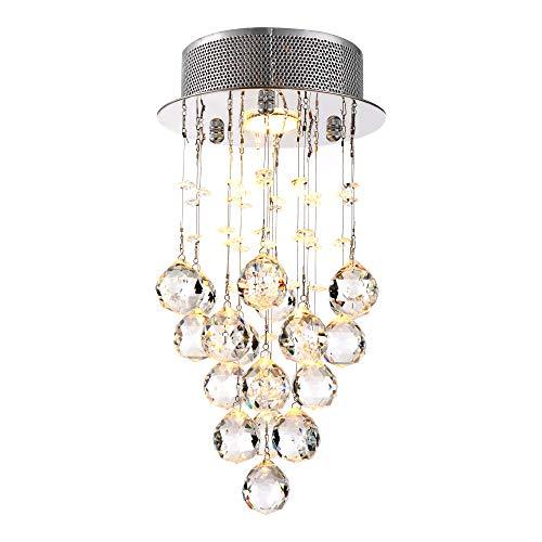 Qucover Lámpara de techo de Cristal moderna Lámpara de Araña