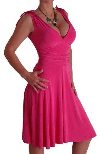 EyeCatchClothing - Sasha verführerisches Kleid in griechischem Style Fushia Gr. 10 UK / 38 EU (Für Griechisch-kleid Frauen)