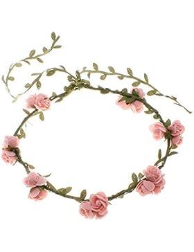 whobabe guirnalda de flores de colores accesorio de disfraces trajes playa decoración de pelo cabello diadema...