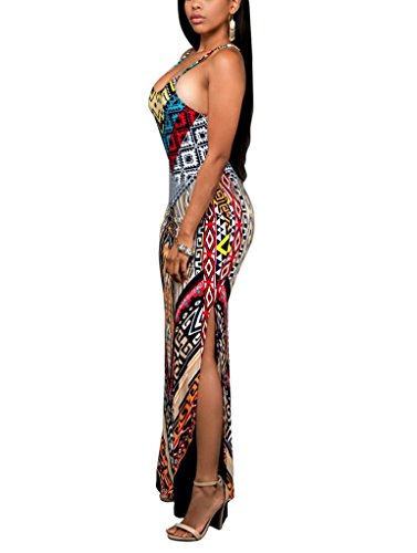Femmes Élingue Sexy Robe imprimée Spectrum design Comme l'image