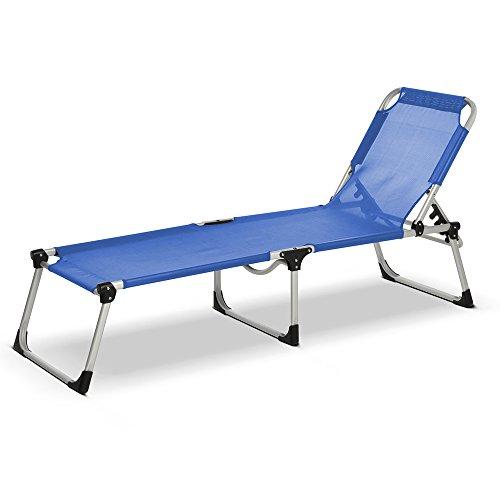 Lettino brandina Sorrento blu da mare tabilimento spiaggia 192x58cm 05097