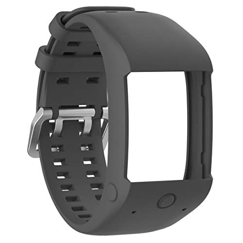Liqiqi für Polar M600 Fitness-Armband aus weichem Silikon und Gummi für Polar M600 Fitness-Armbanduhr grau