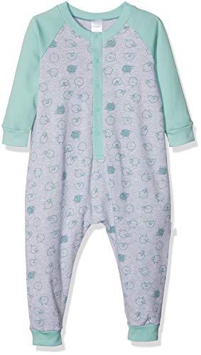 Schiesser Baby-Jungen Anzug Zweiteiliger Schlafanzug, Grau (Grau-Mel. 202), 86