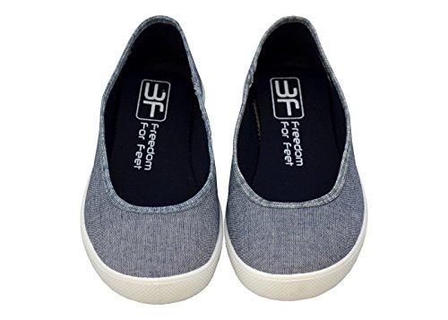3f freedom for feet Ballerines pour femme Blau Sport 5LB-P/5