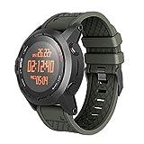 Hunpta@ Uhrenarmband für Garmin Fenix/Fenix 2, Band-Easy Fit 26mm Breite Weichen Silikon-Uhrenarmband (Armeegrün)
