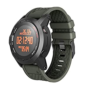 Jamicy Uhrenarmband für Garmin Fenix/Fenix 2 Band, 26mm breites weiches Silikonarmband, Senden Sie einen Schraubendreher kostenlos