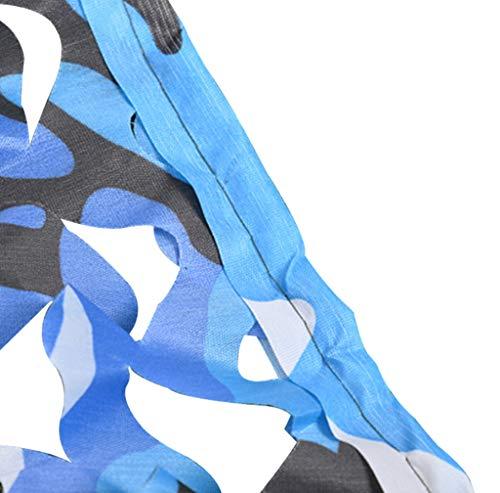 YFF-Plane Tarnnetz Sichtschutz Wald Sonnenschutznetz Jalousien für Sonnenschutz Camping Schießen Jagd Party Dekoration Camouflage Netz Pflanzen Markisen - Blau (Camouflage Party Dekorationen)