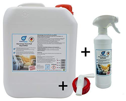 KaiserRein Auto KFZ Glasreiniger Scheibenreiniger mit Lotuseffekt SET Spray 0,5 L Sprayflasche Leer + 5 L Kanister gebrauchsfertig zum nachfüllen + Hahn