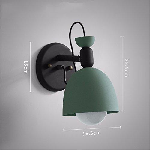 YU-K Lampe de chevet créatif salon la chambre miroir en face escalier avec balcon, appliques, vert