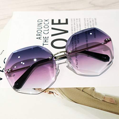 CFLFDC Sonnenbrillen Lady Sonnenbrille Polarisierte Sonnenbrille Retro-brille Fahren Fahrbrille Flut Grauen Purple (Lieblings-Lieferbox + Tuch)