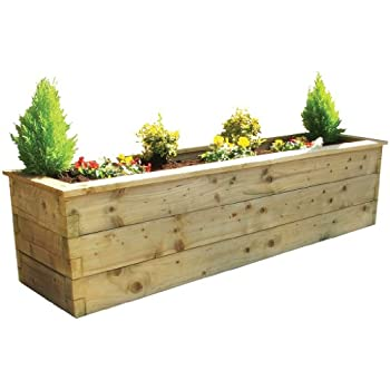 Zest4leisure sleeper raised bed fsc certified pressure - Pressure treated wood for garden beds ...