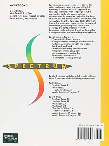 Spectrum 3: A Communicative Course in English, Level 3 Workbook: Workbook Level 3