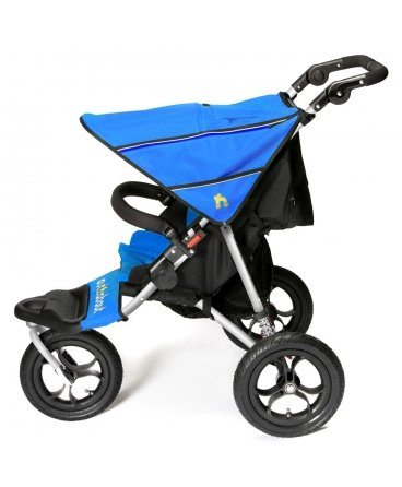 Out n About Nipper Single v4 Stroller Lagoon Blue  LATEST V4 MODEL WITH AUTO-LOCK FOLD! All-terrain 3-Wheeler pushchair, suitable for use from Birth to 4 years (approx) Multi-position adjustable backrest, including lie flat with 5-Point Safety Harness Height adjustable handles & removable, hinged bumper bar 3