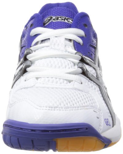 Asics Gel-rocket W, Chaussures Multisport Indoor femme Blanc (white/lightning/royal Blue)