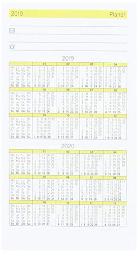 Rido/idé 7045030tasche Calendario/pieghevole calendario Gilet di Planer ricambio kalendarium, 2pagine = 1mese, 70X 118mm, in cartone, kalendarium 2018
