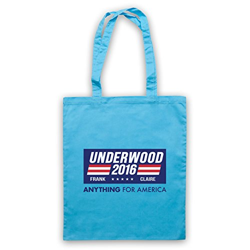Inspiriert durch House Of Cards Underwood For President 2016 Inoffiziell Umhangetaschen Hellblau